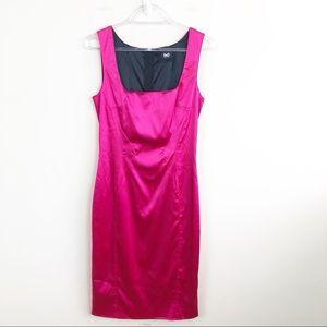Dolce & Gabbana D&G Pink Satin Stretch Dress